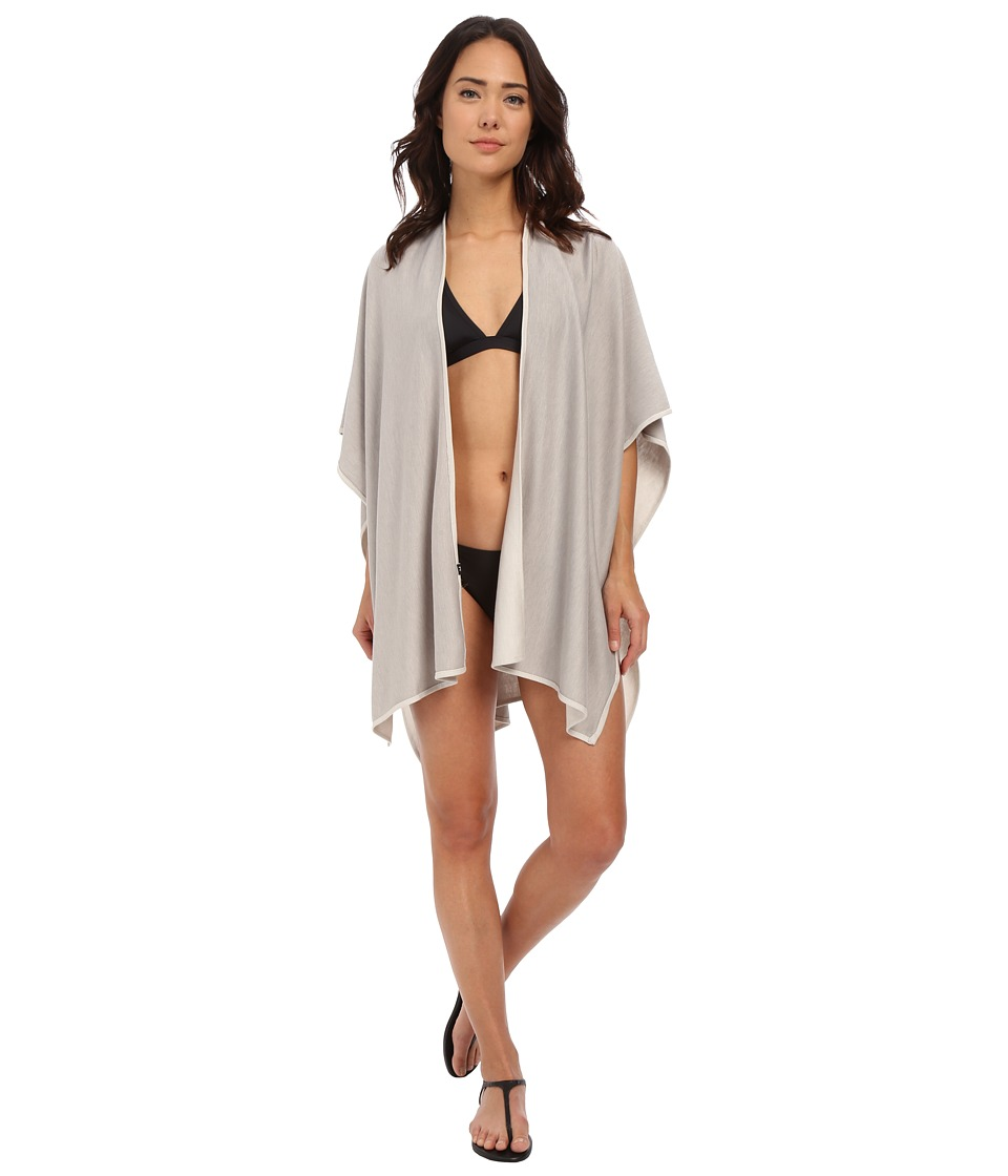 Echo Design - Solid Reversible Ruana Cover-Up (Ecru/Light Grey) Women's Swimwear