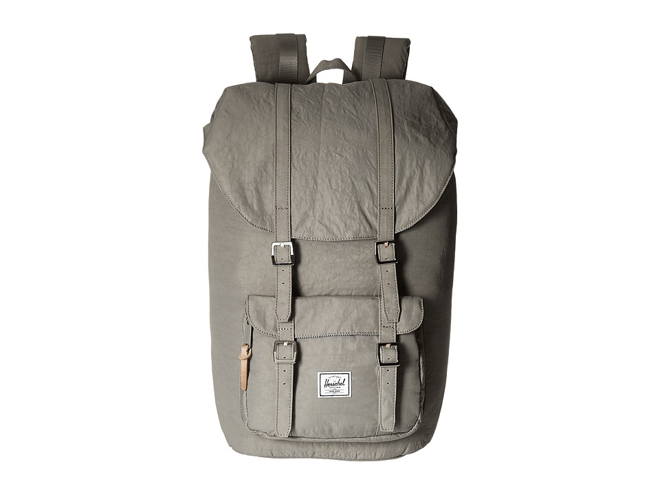 Herschel Supply Co. - Little America (Agate Grey/Raw Veggie Tan Leather) Backpack Bags