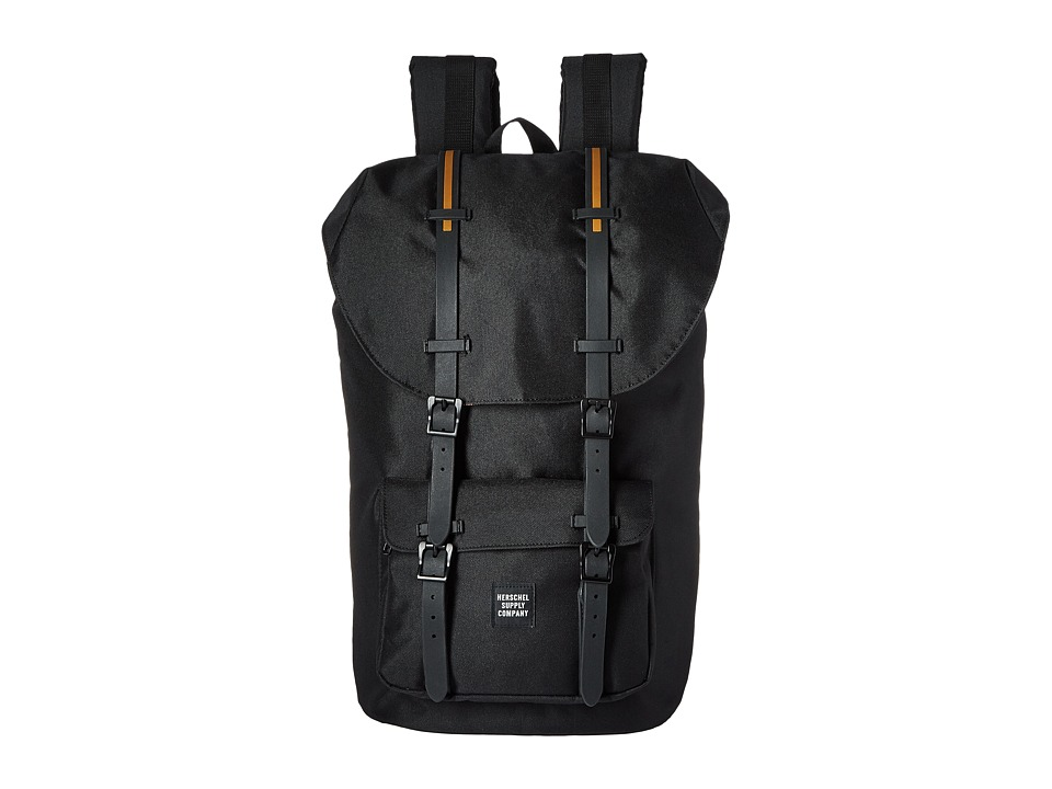 Herschel Supply Co. - Little America (Black/Black Rubber/Gum) Backpack Bags