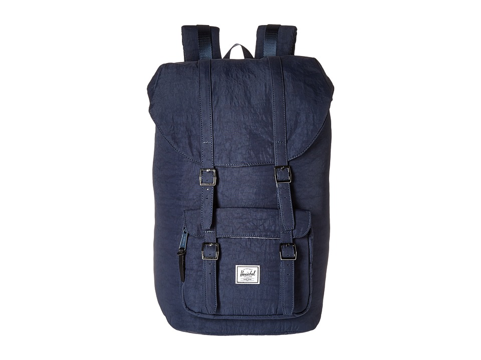 Herschel Supply Co. - Little America (Total Eclipse/Black Veggie Tan Leather) Backpack Bags