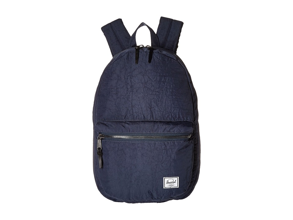 Herschel Supply Co. - Lawson (Total Eclipse/Black Veggie Tan Leather) Backpack Bags