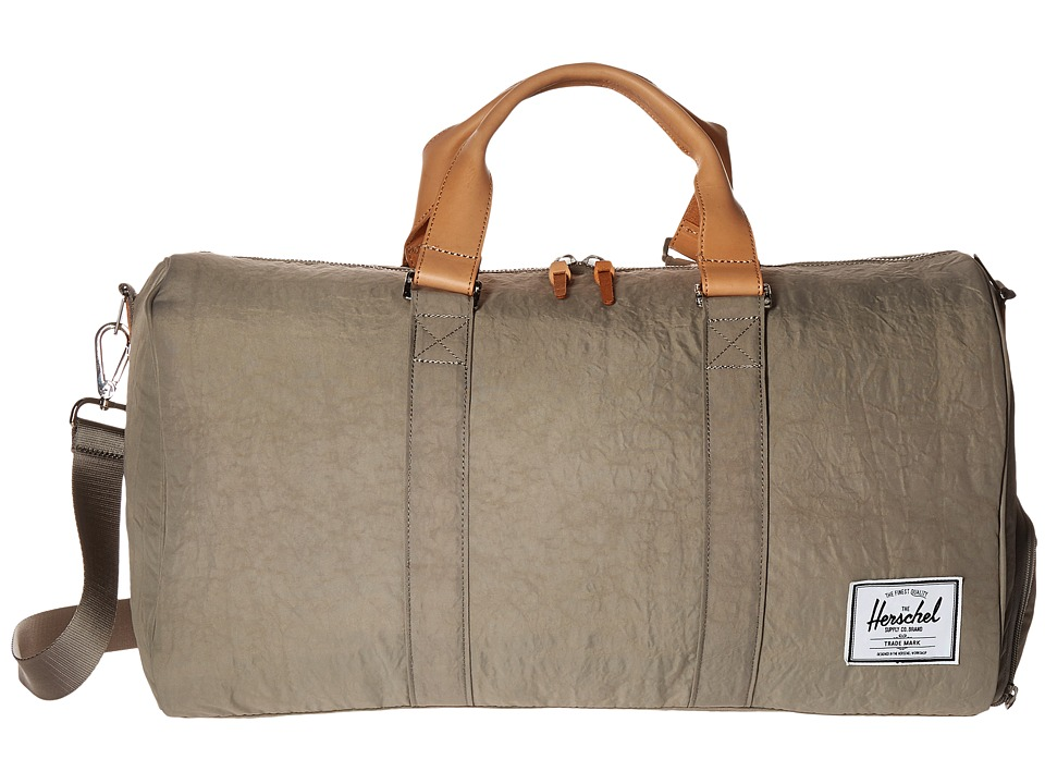 Herschel Supply Co. - Novel (Agate Grey/Raw Veggie Tan Leather) Duffel Bags