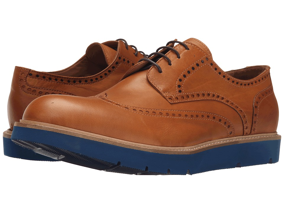 Massimo Matteo - Wing Tip Blue Sole (Cuoio) Men's Lace Up Wing Tip Shoes