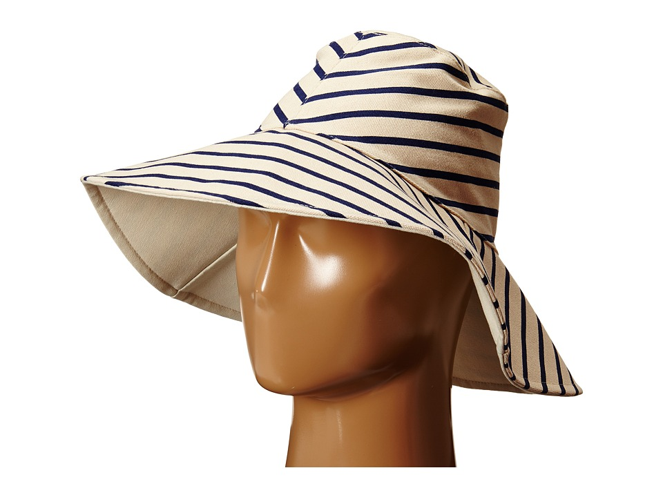 Hat Attack - Canvas Reversible Sunhat (Navy Stripe) Traditional Hats