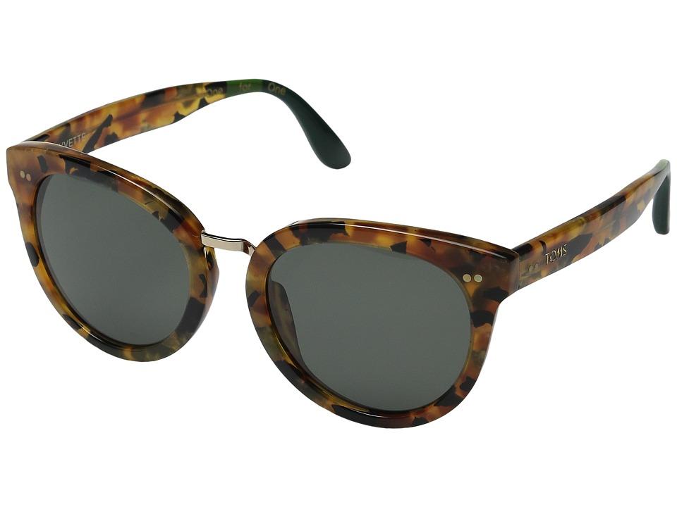 TOMS - Yvette (Panama Tortoise) Fashion Sunglasses