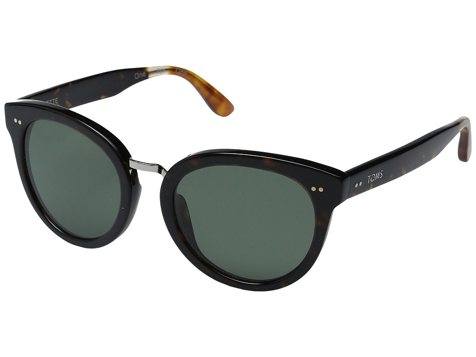 TOMS - Yvette Polarized (Tortoise) Polarized Fashion Sunglasses