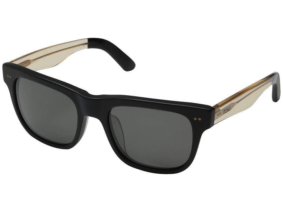 TOMS - James (Matte Black) Fashion Sunglasses