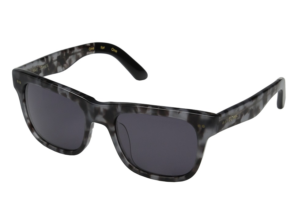 TOMS - James (Matte Grey Tortoise) Fashion Sunglasses