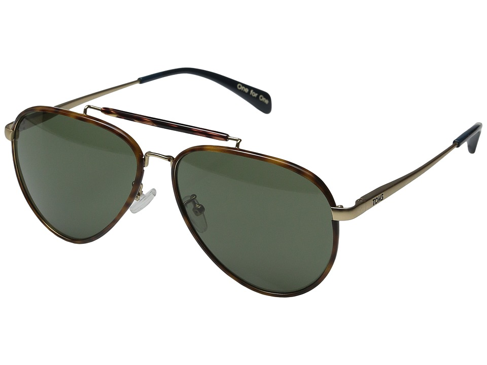 TOMS - Maverick 401 (Honey Tortoise Wrap) Fashion Sunglasses