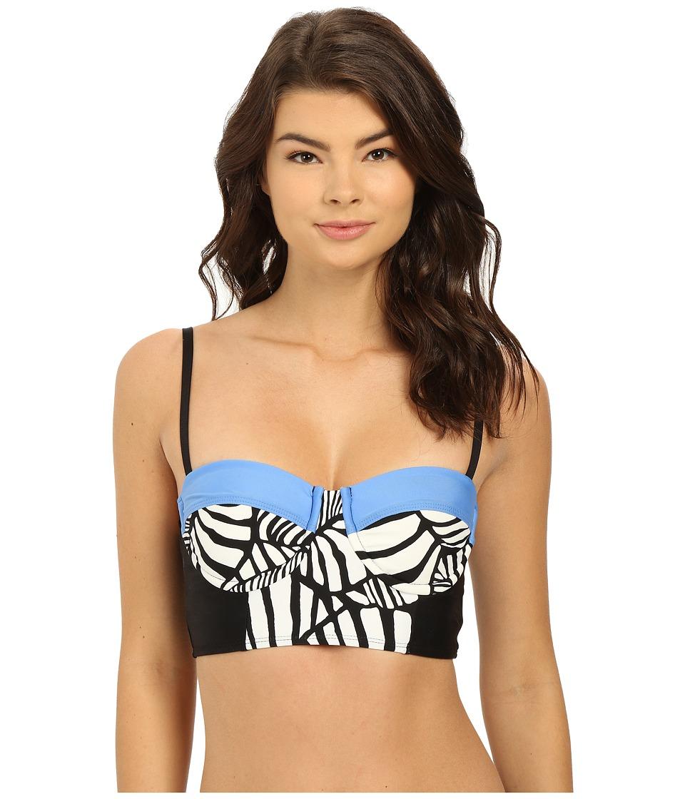 Splendid - Canopy Molded Soft Cup Underwire Midkini (Black) Women's Swimwear