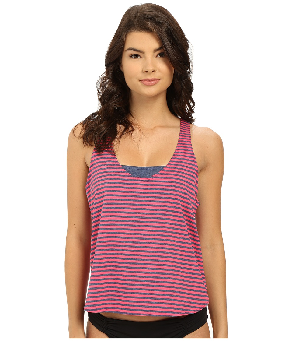 Splendid - Malibu Stripe Double Dip (Pink) Women's Swimwear