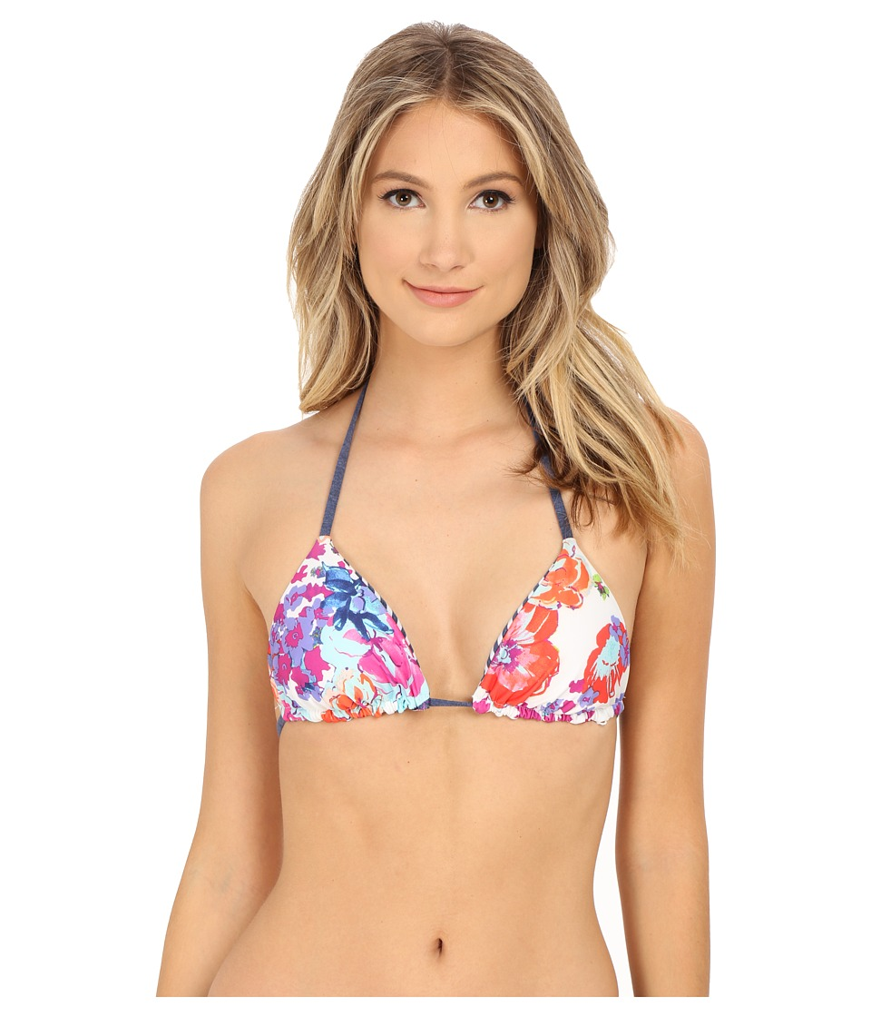 Splendid - Full Bloom Reversible Soft Cup Triangle Bra (Multi) Women's Swimwear