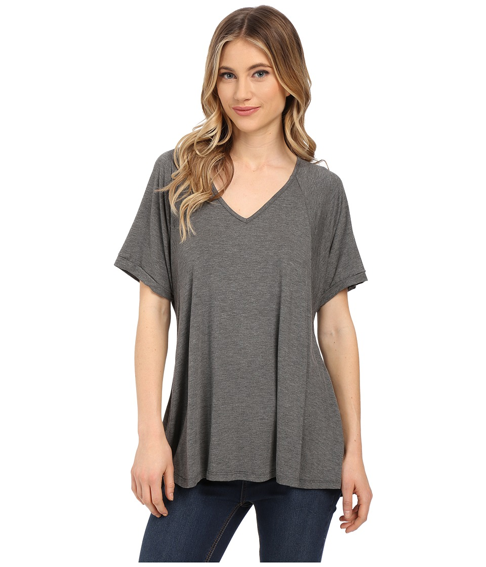 Culture Phit - Viola Modal Short Sleeve Top (Heather Charcoal) Women