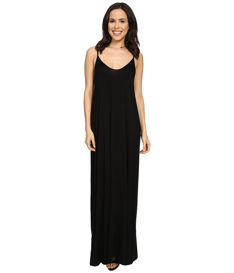 Culture Phit - Ellie Spaghetti Strap Maxi Dress (Black) Women's Dress
