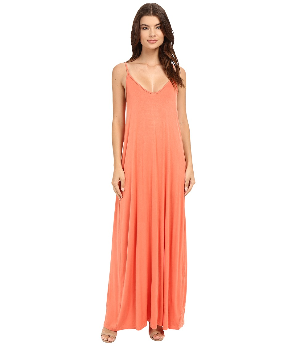 Culture Phit Ellie Spaghetti Strap Maxi Dress (Papaya) Women