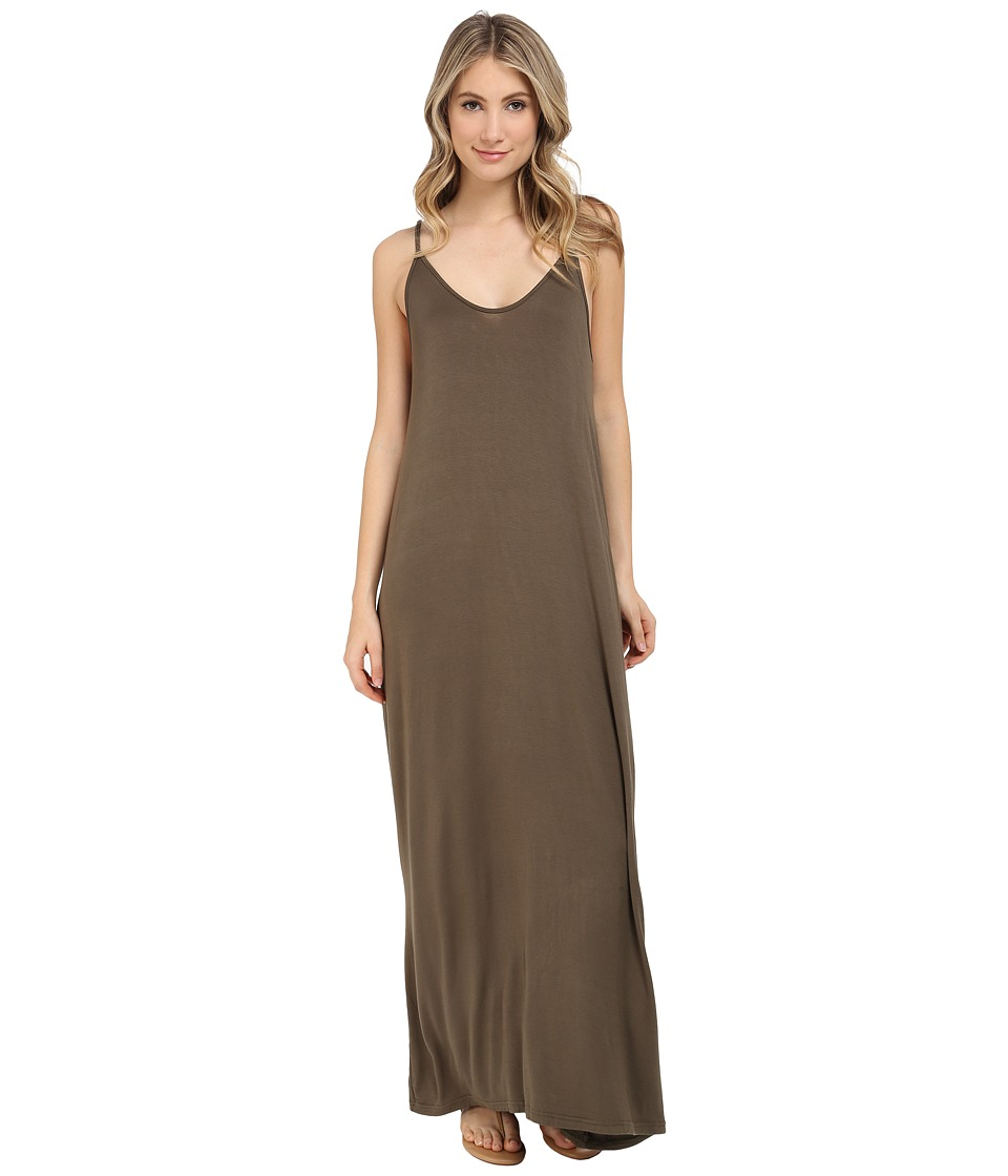 Culture Phit - Ellie Spaghetti Strap Maxi Dress (Olive) Women's Dress