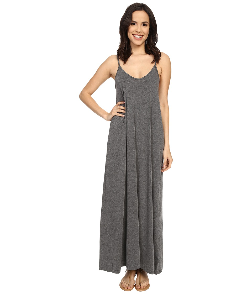 Culture Phit - Ellie Spaghetti Strap Maxi Dress (Charcoal) Women's Dress