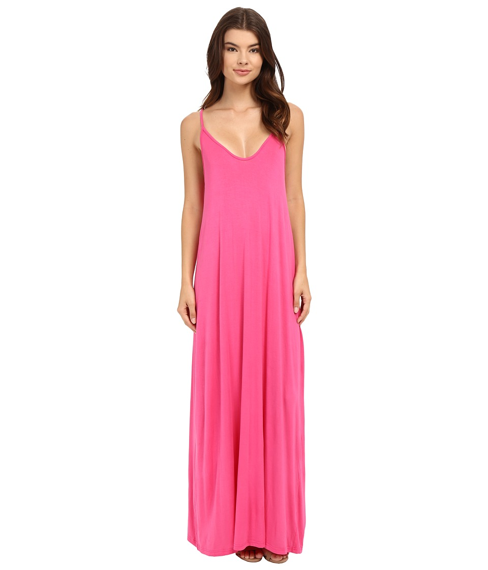 Culture Phit - Ellie Spaghetti Strap Maxi Dress (Hot Pink) Women's Dress
