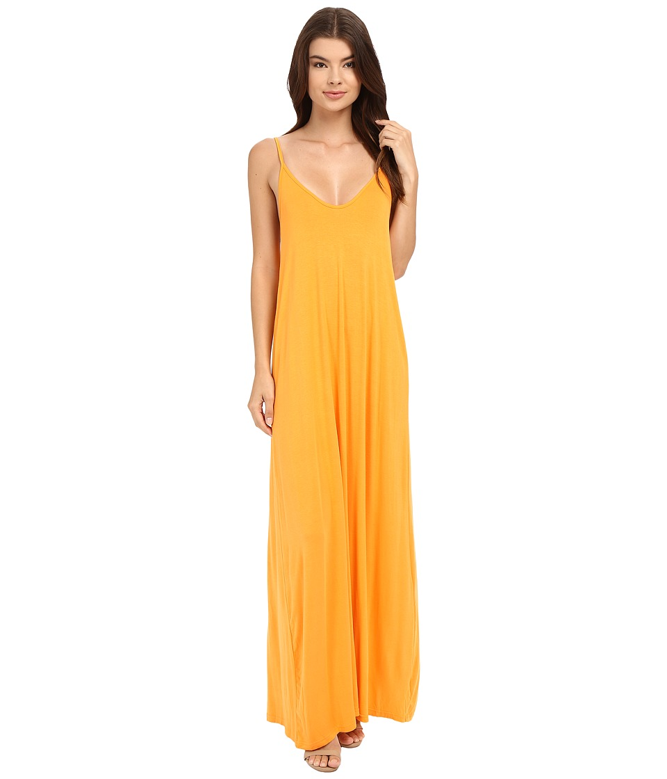 Culture Phit - Ellie Spaghetti Strap Maxi Dress (Orange) Women's Dress