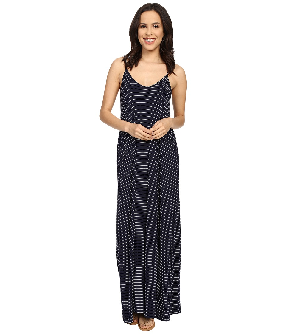 Culture Phit - Ellie Spaghetti Strap Maxi Dress (Navy/White) Women's Dress