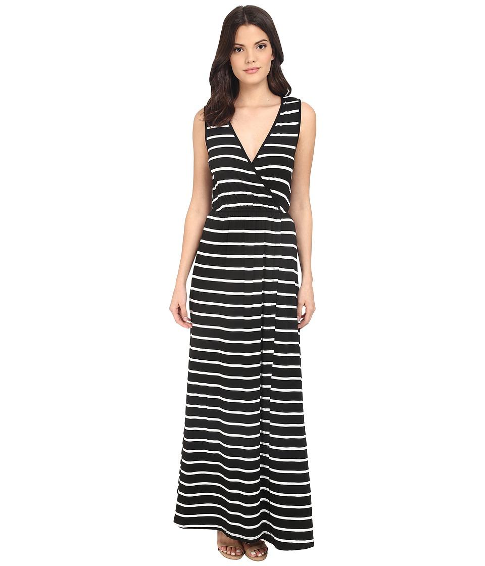 Culture Phit - Jain Maxi Dress (Black/White Stripe) Women's Dress
