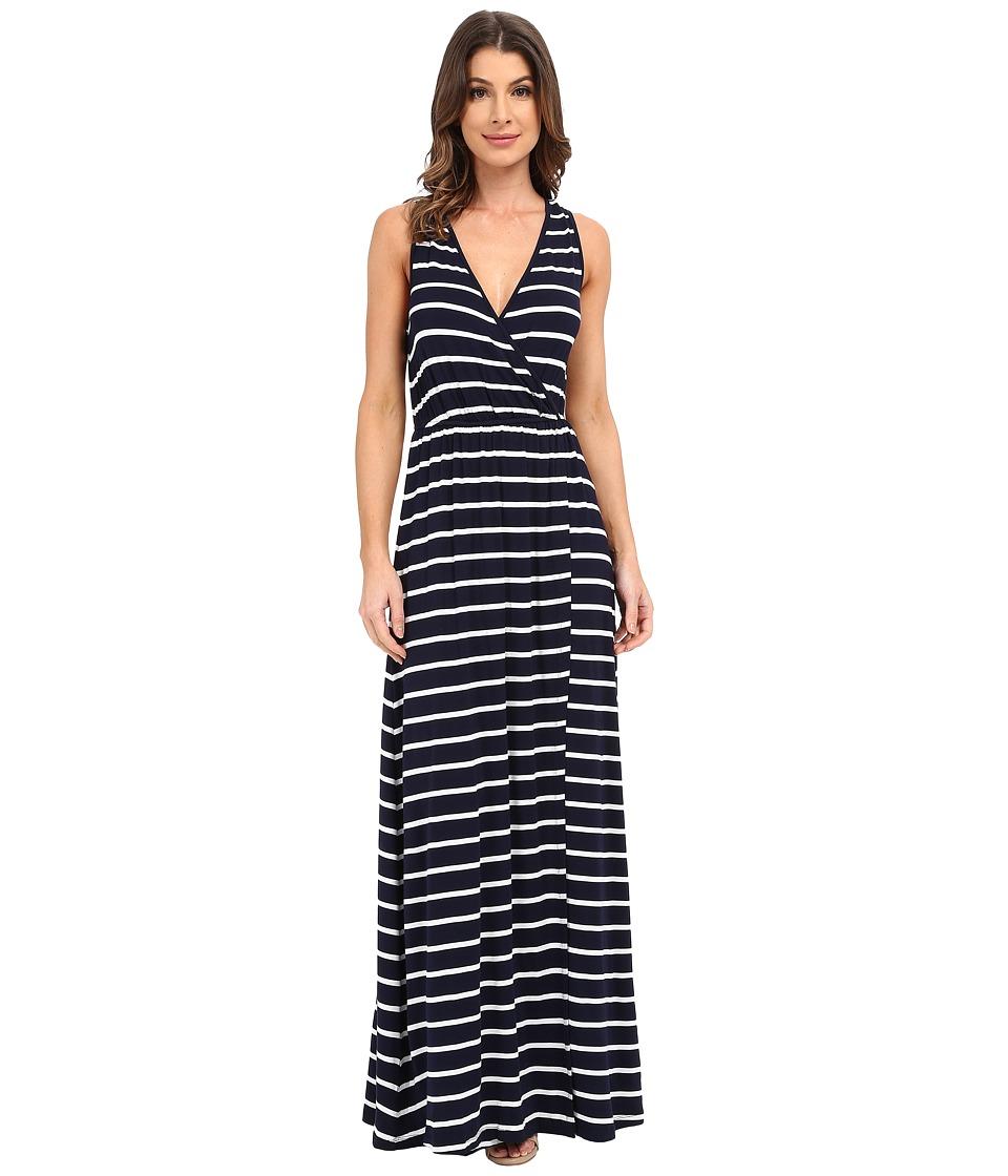 Culture Phit - Jain Maxi Dress (Navy/White Stripe) Women's Dress