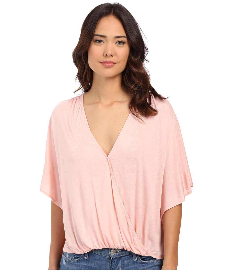 Culture Phit - Katie Butterfly Arm Top (Light Pink) Women's Clothing