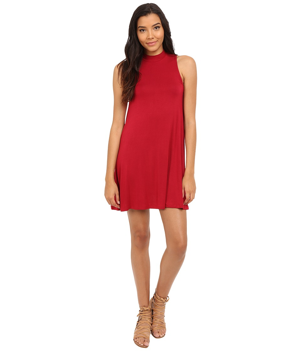 Culture Phit - Kara Mock Neck Dress (Red) Women's Dress