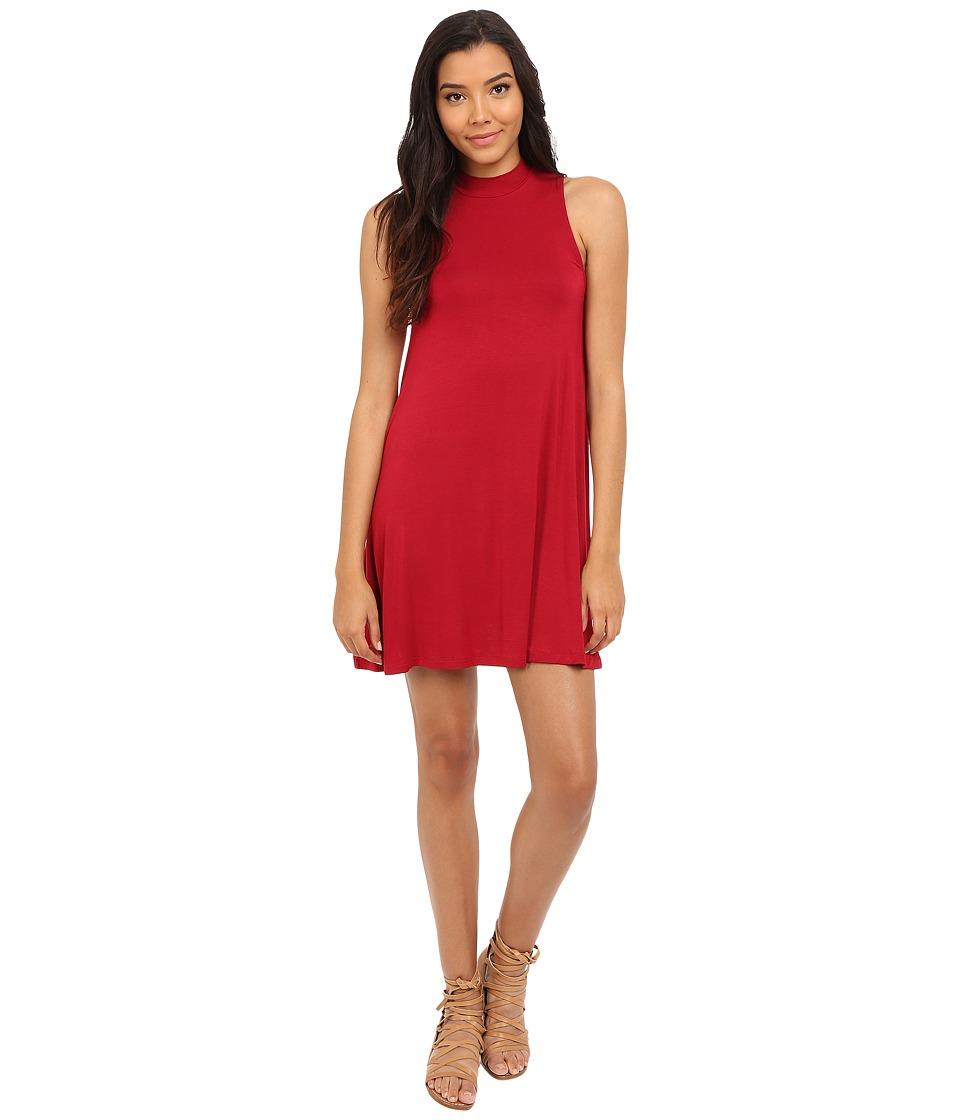 Culture Phit Kara Mock Neck Dress (Red) Women