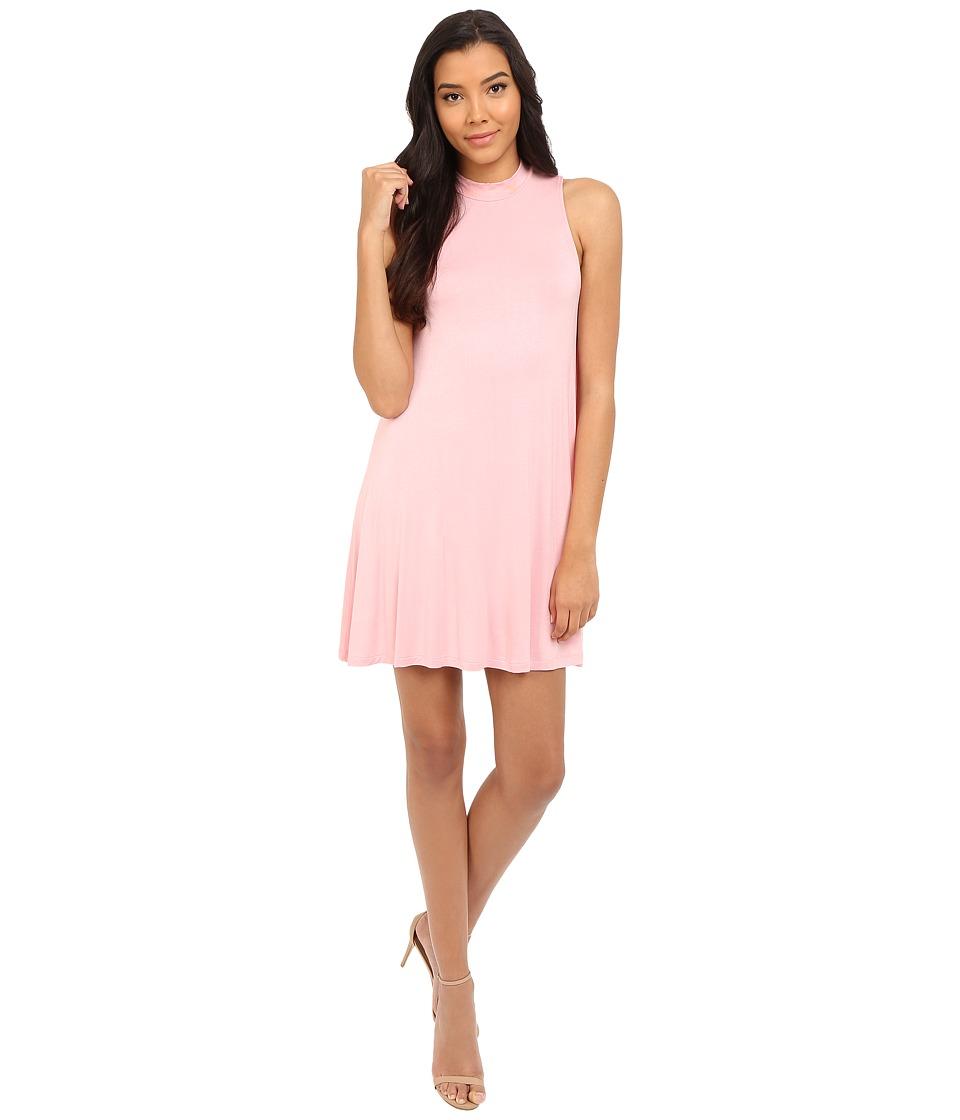 Culture Phit - Kara Mock Neck Dress (Rose) Women's Dress