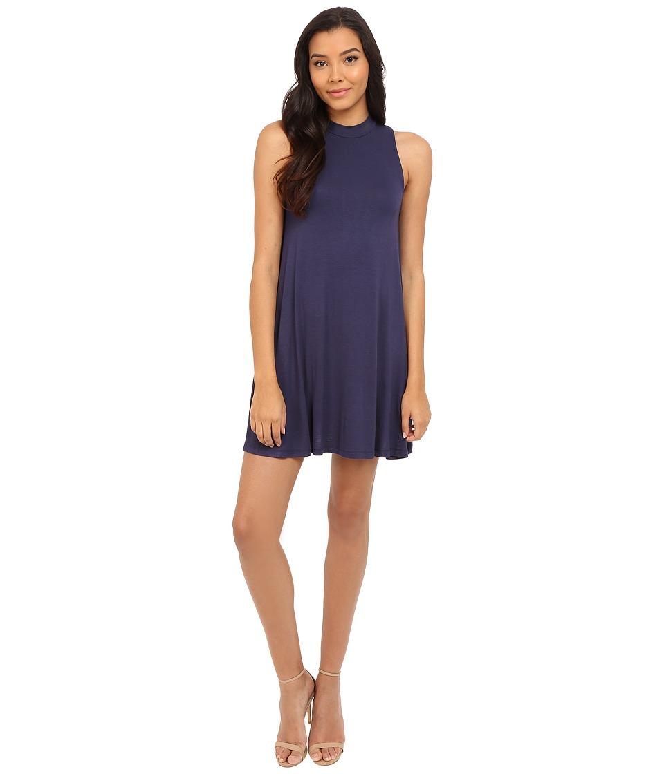 Culture Phit - Kara Mock Neck Dress (Navy) Women's Dress