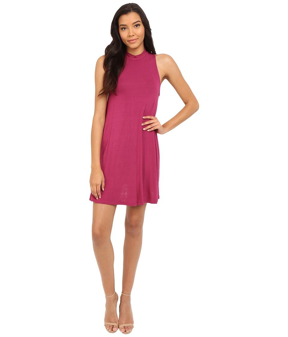 Culture Phit - Kara Mock Neck Dress (Magenta) Women's Dress