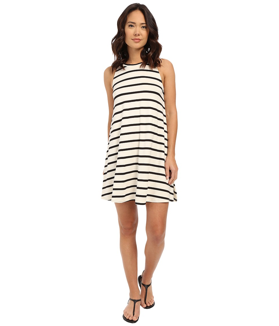Culture Phit - Toni Sleeveless Dress (Ivory/Black Stripe) Women's Dress
