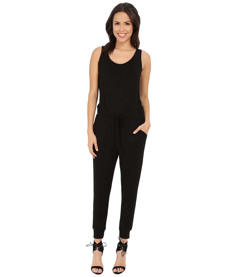 Culture Phit - Madison Luxe French Terry Sleeveless Jumper (Black) Women's Jumpsuit & Rompers One Piece