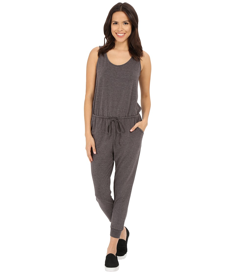 Culture Phit - Madison Luxe French Terry Sleeveless Jumper (Charcoal) Women's Jumpsuit & Rompers One Piece