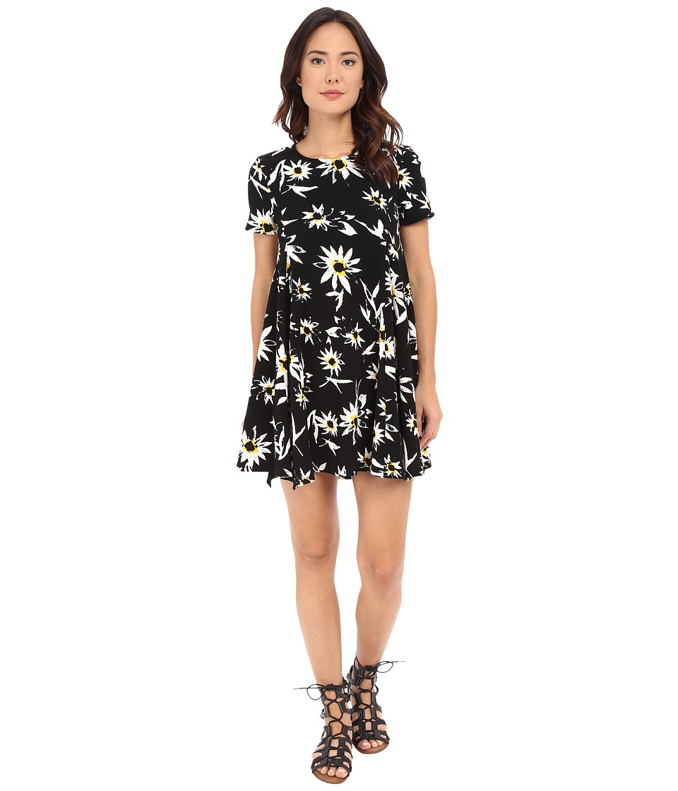 Brigitte Bailey - Camilla Floral Flare Dress (Black) Women's Dress