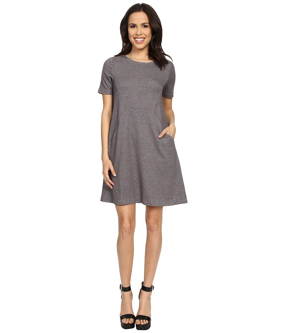 Brigitte Bailey - Aurora Short Sleeve Dress (Heather Grey) Women's Dress