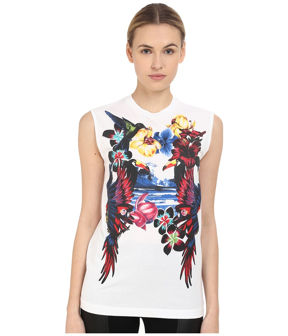 DSQUARED2 - Dyed/Long Cool Fit Top (White) Women's Sleeveless