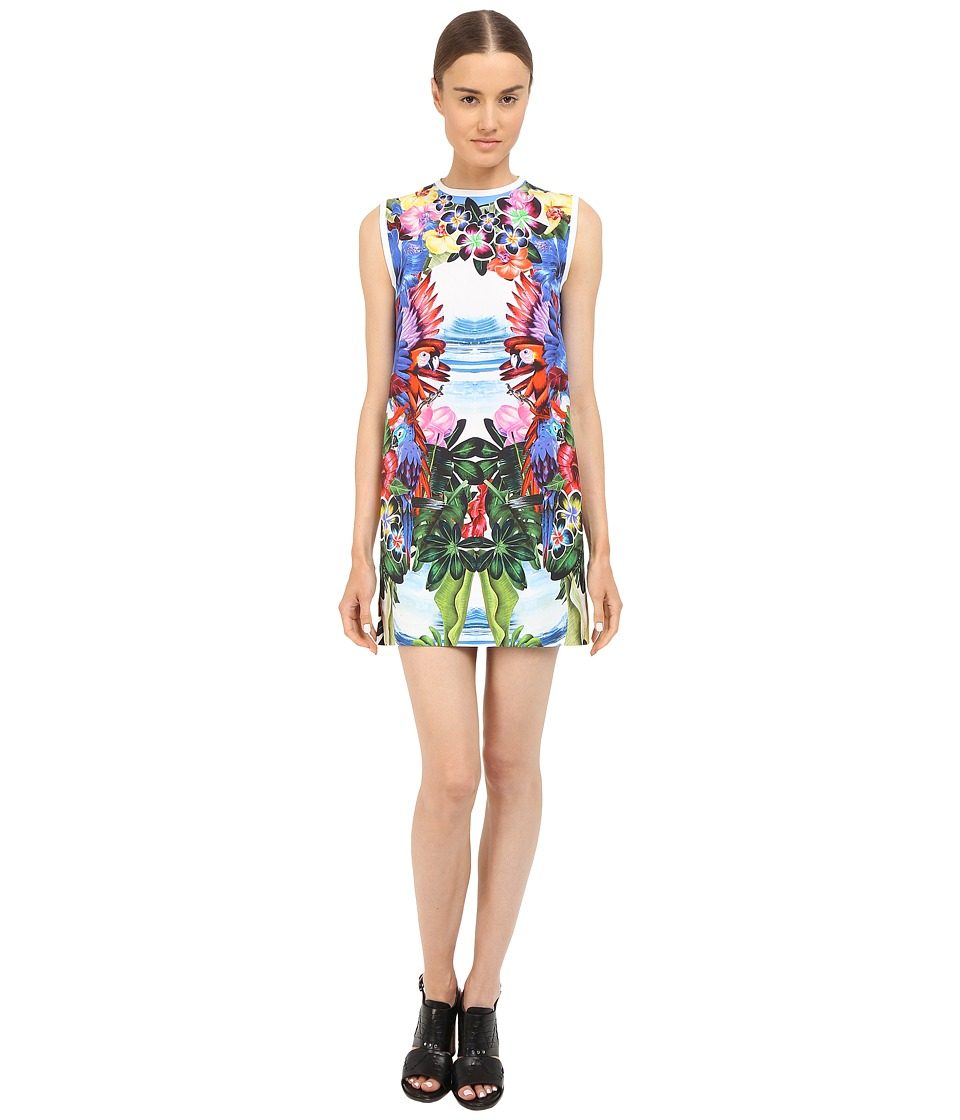 DSQUARED2 - Printed Poplin/Exotic Jungle Dress (Mix Colours) Women's Dress