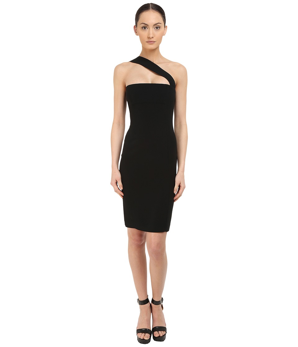 DSQUARED2 Stretch Cady/Haimi One Shoulder Dress (Black) Women