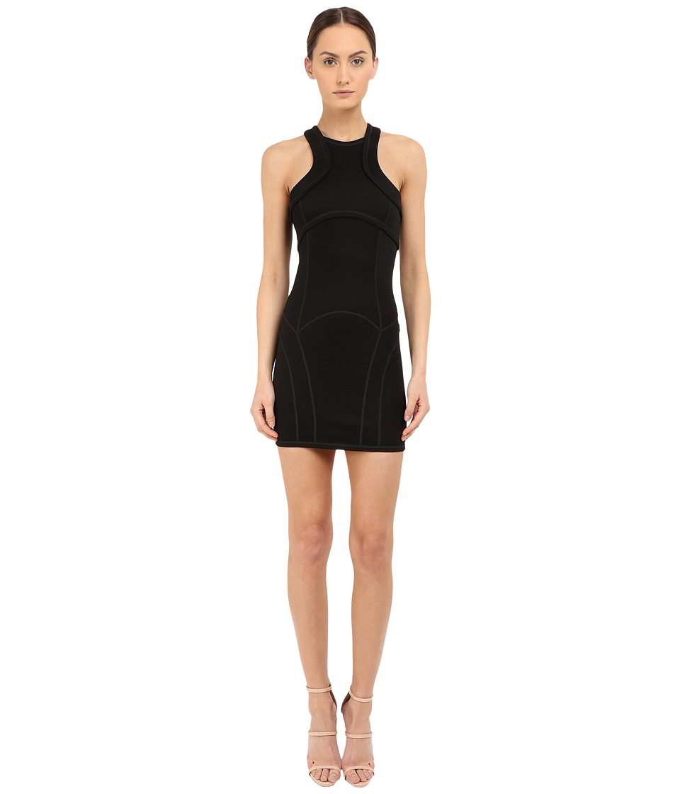 DSQUARED2 - Compact Viscose Jersey Dress (Black) Women's Dress