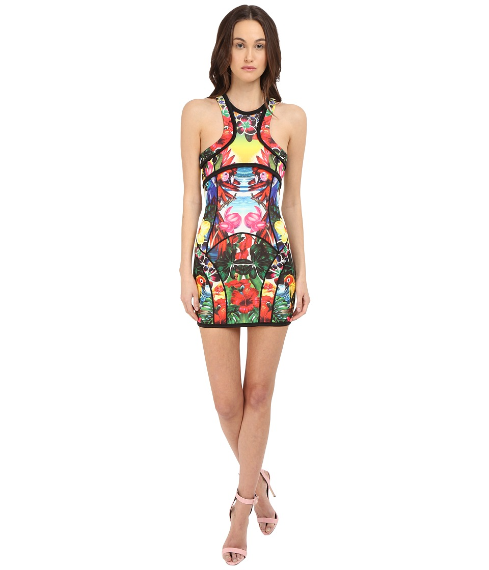DSQUARED2 - Double Fleece Dress (Tropical Print) Women's Dress