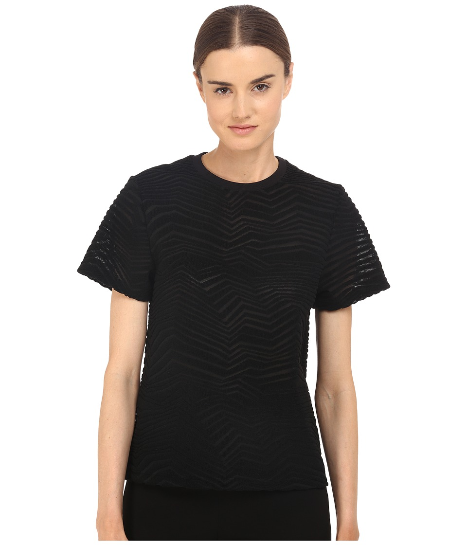 Neil Barrett - Fragmented Line Small Masc. Jersey T-Shirt (Black) Women's T Shirt