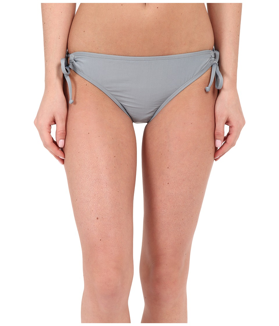 Splendid Hamptons Solid Tunnel Bikini Bottom Grey Swimwear
