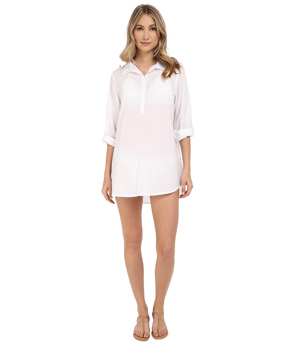 Splendid - Canopy Tunic Cover-Up (White) Women's Swimwear