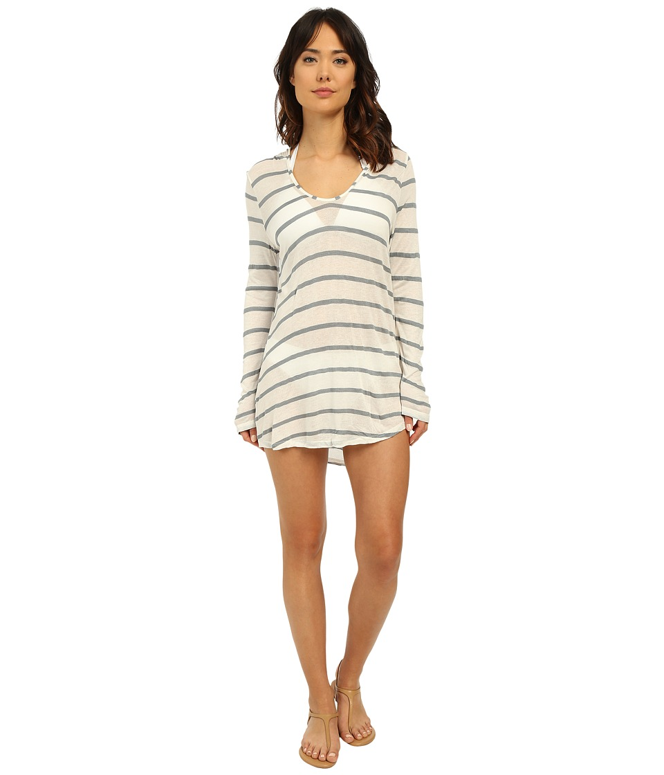 Splendid - Hamptons Knit Hooded Tunic Cover-Up (Grey) Women's Swimwear