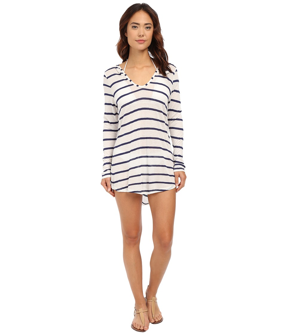 Splendid - Hamptons Knit Hooded Tunic Cover-Up (Navy) Women's Swimwear