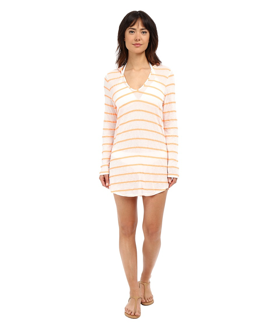 Splendid - Hamptons Knit Hooded Tunic Cover-Up (Orange) Women's Swimwear