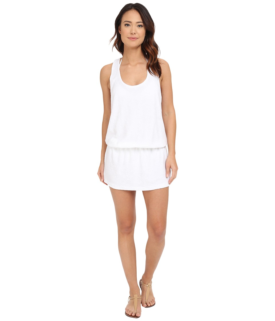 Splendid - Hamptons Terry Dress Cover-Up (White) Women's Swimwear