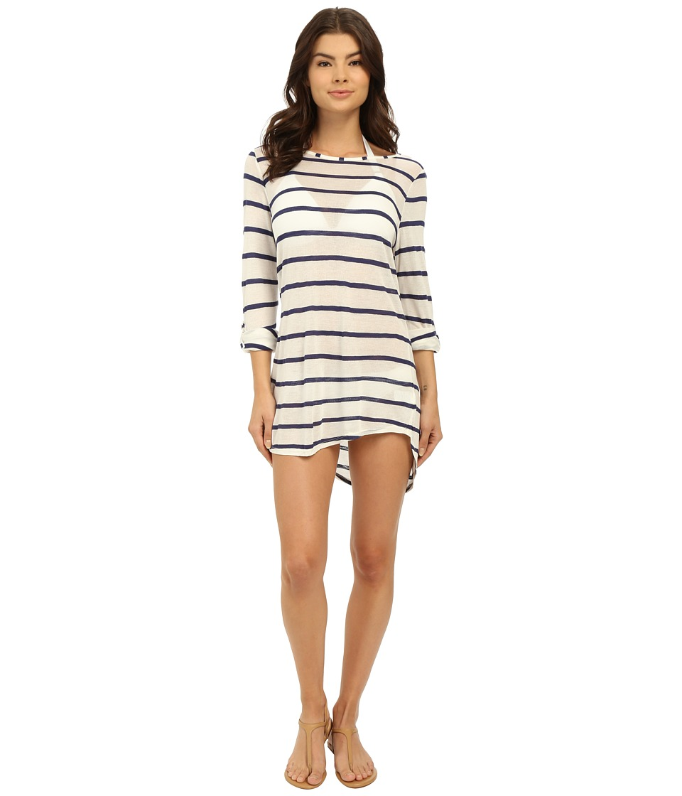 Splendid - Hamptons Knit Tunic Cover-Up (Navy) Women's Swimwear